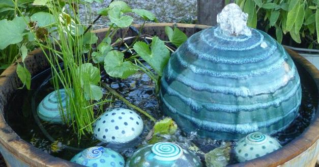 Quellsteine brunnenkugeln keramikwerkstatt baumgartner - Gartenbrunnen keramik ...